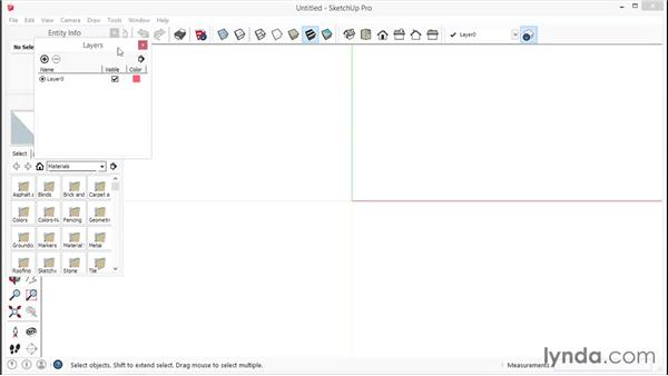 Selecting the template and setting up the workspace: SketchUp for Interior Design