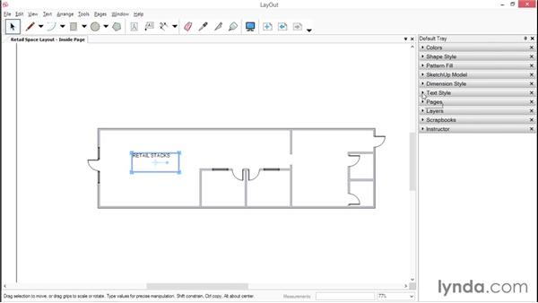 Creating text and dimensions in LayOut: SketchUp for Interior Design