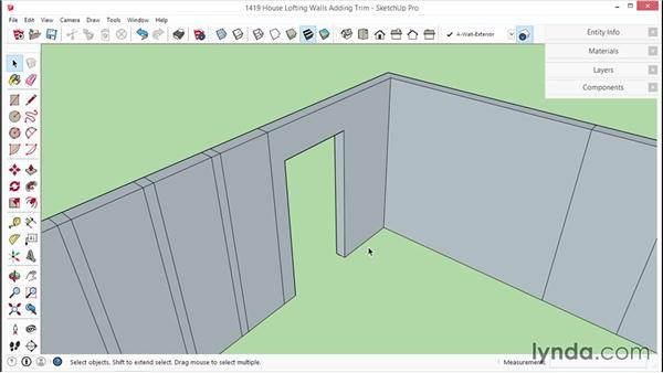 Lofting the walls and adding trim: SketchUp for Interior Design