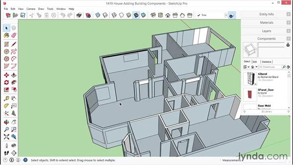 Adding building components: SketchUp for Interior Design