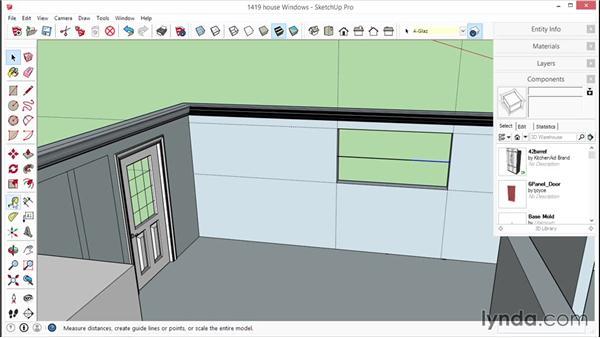 Adding windows into a wall: SketchUp for Interior Design