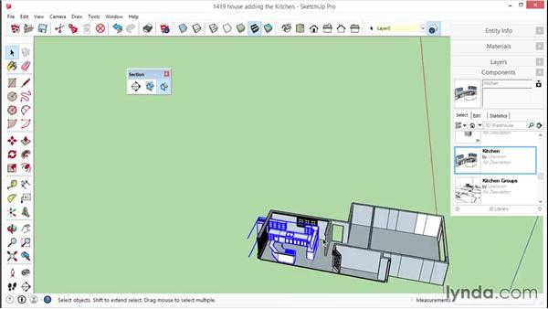 Incorporating the kitchen into the model: SketchUp for Interior Design