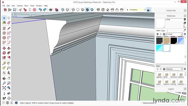 Applying SketchUp materials: SketchUp for Interior Design