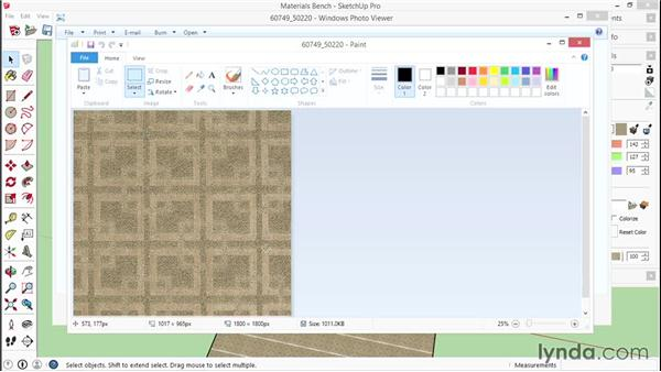 Creating a custom material: SketchUp for Interior Design