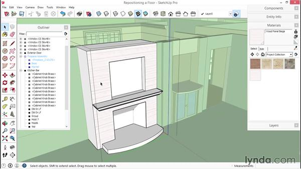 Applying, repositioning, and scaling materials: SketchUp for Interior Design