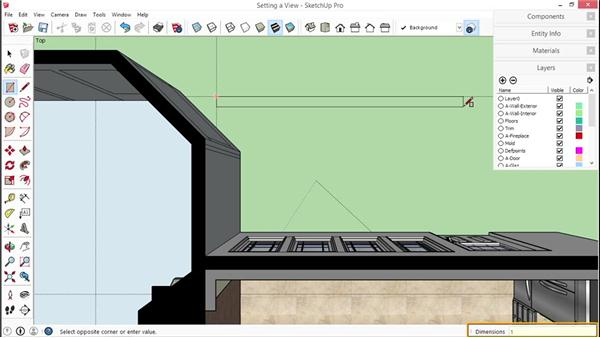 Setting a view to export as an image: SketchUp for Interior Design