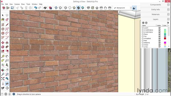Creating interior backgrounds and adding scenes: SketchUp for Interior Design