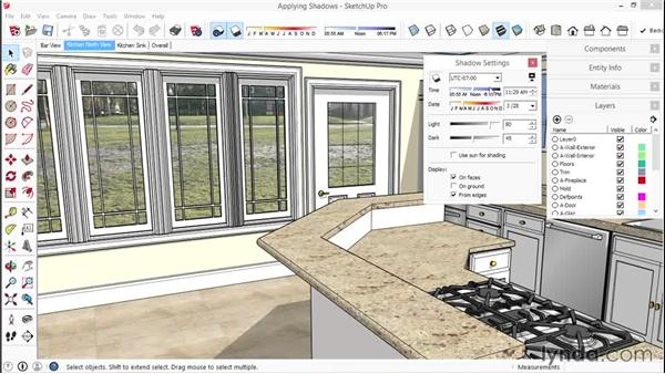 Setting up and applying shadows: SketchUp for Interior Design
