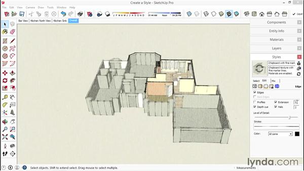Incorporating the use of styles: SketchUp for Interior Design