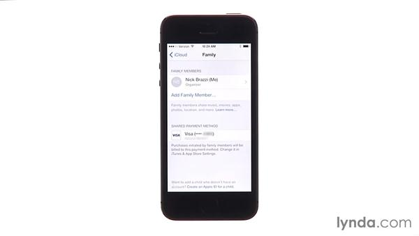 Setting up Family Sharing: iOS 8 New Features