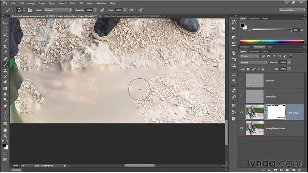 Combining two layers with a layer mask (CC 2014): Photoshop CC 2013 One-on-One: Intermediate