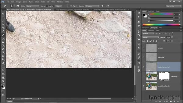 Content-aware healing (CC 2014): Photoshop CC 2013 One-on-One: Intermediate