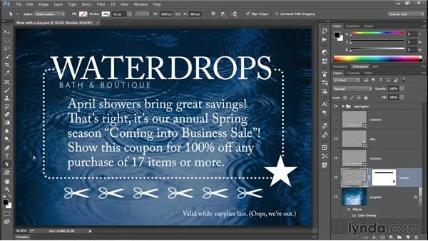 Selecting and modifying path outlines (CC 2014): Photoshop CC 2013 One-on-One: Intermediate