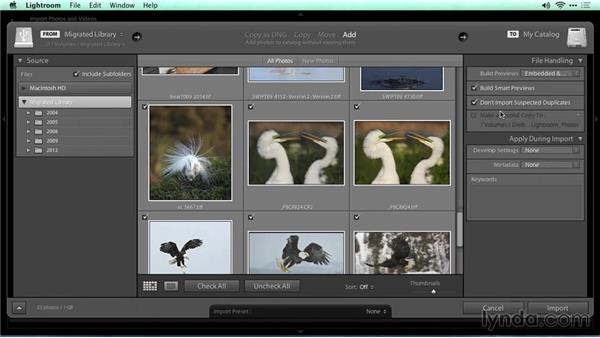 Adding images to a catalog: Migrating from Aperture to Lightroom