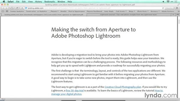 Adobe migration tools: Migrating from Aperture to Lightroom