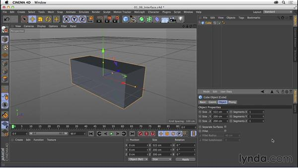 Touring the interface: CINEMA 4D R16 Essential Training