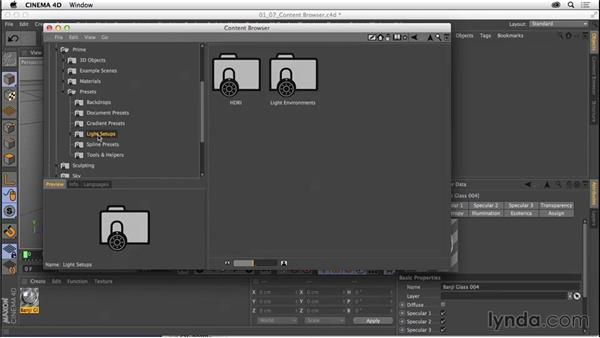 Exploring the Content Browser: CINEMA 4D R16 Essential Training