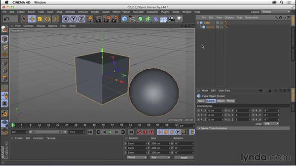 Understanding the importance of object hierarchy: CINEMA 4D R16 Essential Training