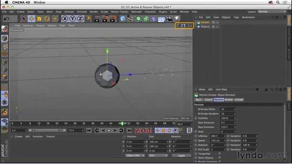 Understanding object categories: Active and passive: CINEMA 4D R16 Essential Training