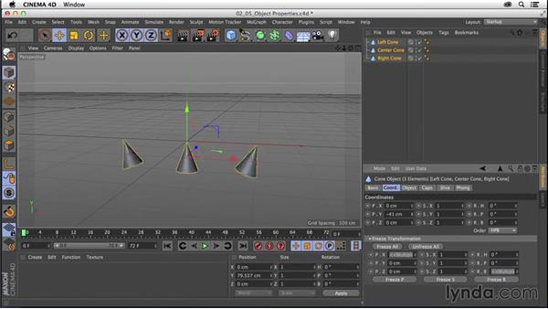 Modifying objects with the Object and Attribute Managers: CINEMA 4D R16 Essential Training