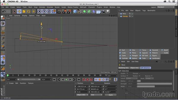 Creating a model using primitives: Part one: CINEMA 4D R16 Essential Training