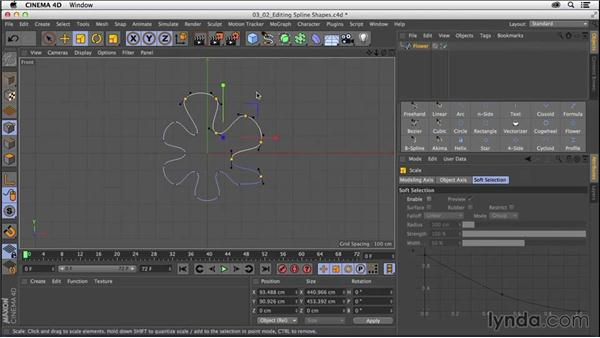 Selecting and editing spline shapes: CINEMA 4D R16 Essential Training