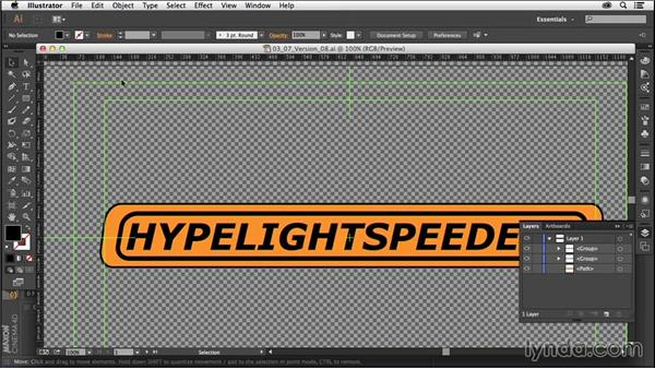 Extruding and organizing paths from Adobe Illustrator: CINEMA 4D R16 Essential Training