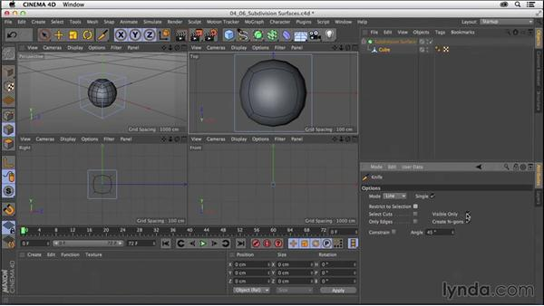 Modeling with subdivisions: Modeling with subdivision surfaces: CINEMA 4D R16 Essential Training