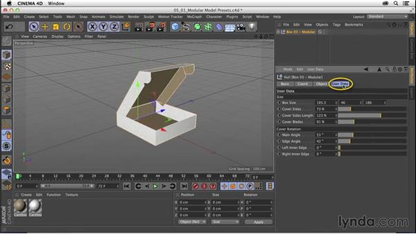 Understanding the modular modeling presets: CINEMA 4D R16 Essential Training