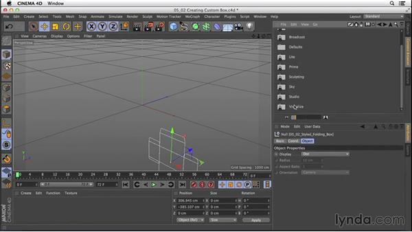 Creating custom folding boxes: CINEMA 4D R16 Essential Training