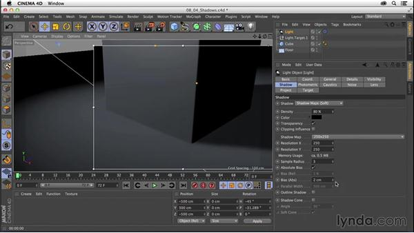 Creating and manipulating shadows: CINEMA 4D R16 Essential Training