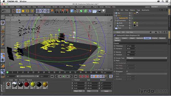 Animating with Explosion deformers: CINEMA 4D R16 Essential Training