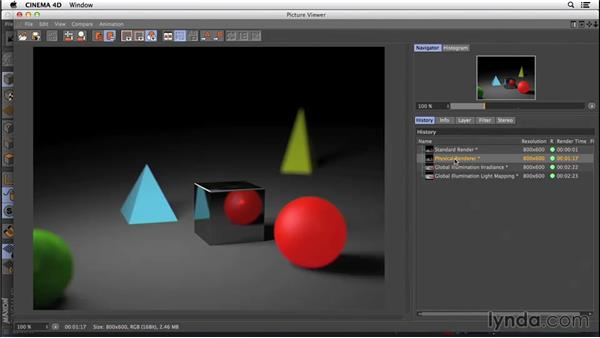 Understanding render engines: CINEMA 4D R16 Essential Training