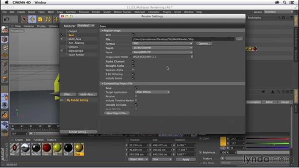 Setting up multipass rendering: CINEMA 4D R16 Essential Training