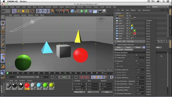 Exploring the essentials of using the Physical Renderer: CINEMA 4D R16 Essential Training