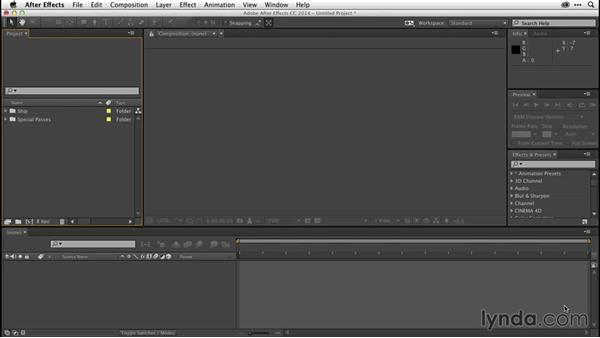 Importing multipass renders into After Effects: CINEMA 4D R16 Essential Training
