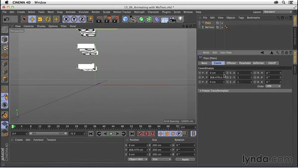 Animating type with MoText: CINEMA 4D R16 Essential Training