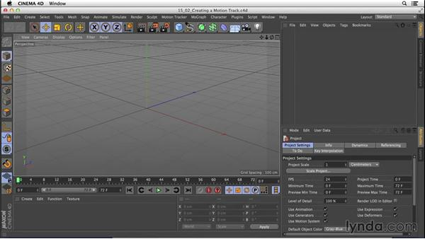Understanding motion tracking: CINEMA 4D R16 Essential Training