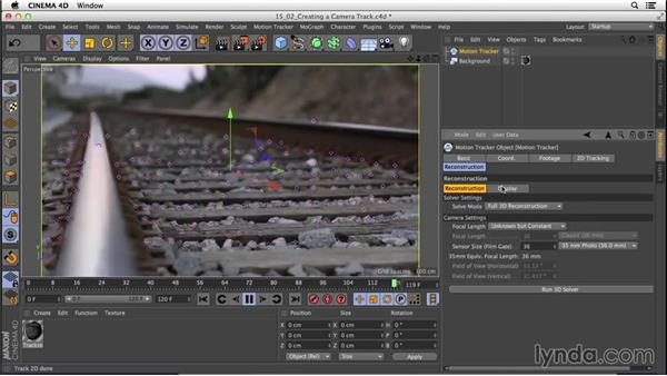 Creating the initial track: CINEMA 4D R16 Essential Training