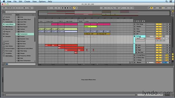 Adding effects and recording automation: Songwriting in Ableton Live