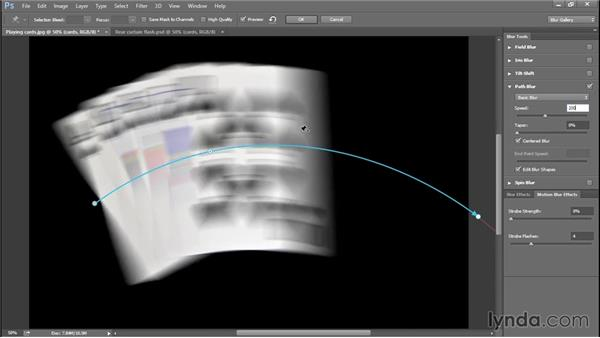 Adding a slow flash effect with Path Blur (CC 2014): Photoshop CC 2013 One-on-One: Advanced