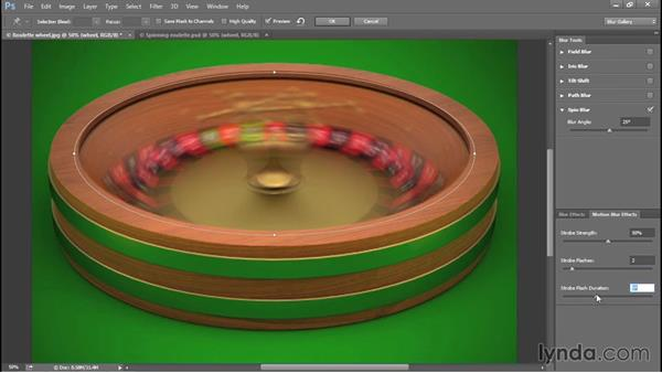 Adding elliptical motion with Spin Blur (CC 2014): Photoshop CC 2013 One-on-One: Advanced