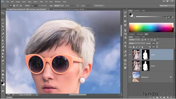 Cleaning up a jagged Focus Area mask (CC 2014): Photoshop CC 2013 One-on-One: Advanced