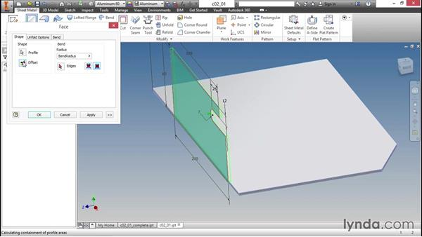 Starting with a face: Sheet Metal Design with Inventor