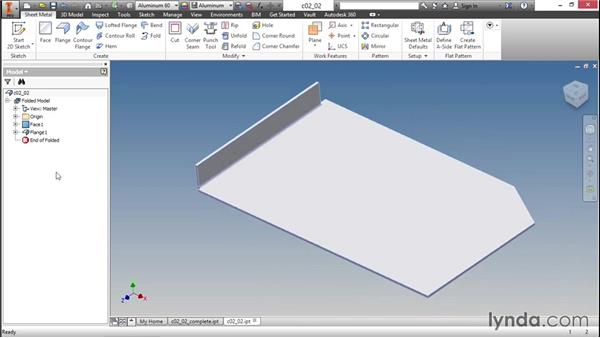 Adding flanges to your part: Sheet Metal Design with Inventor