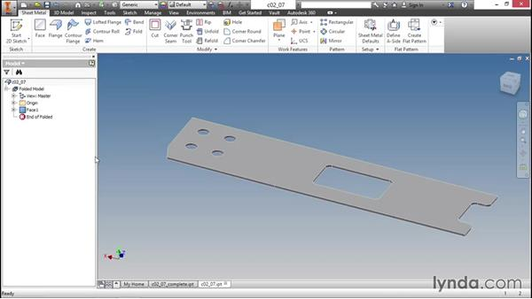 How to reuse existing data with a fold operation: Sheet Metal Design with Inventor