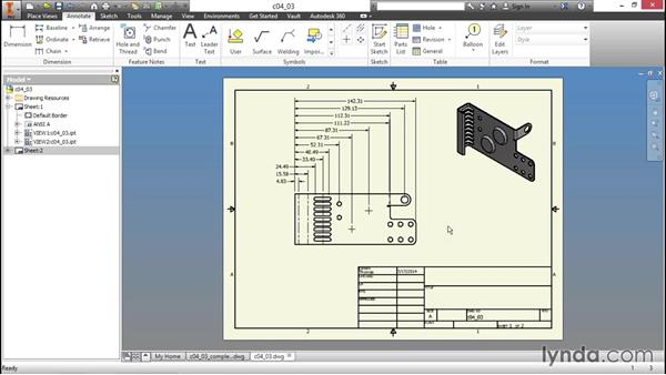 Special annotations for sheet metal: Sheet Metal Design with Inventor