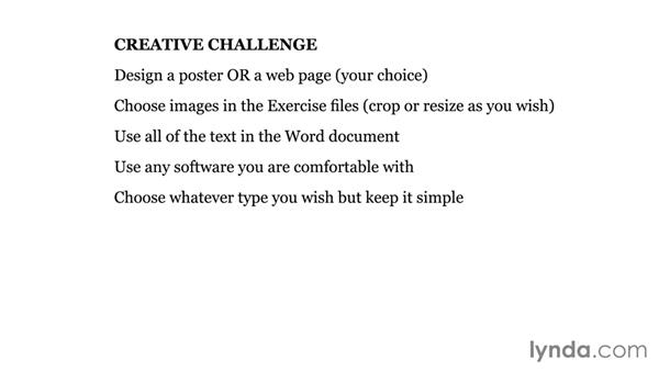 Creative challenge: Design a poster or webpage: Foundations of Typography: Working with Grids