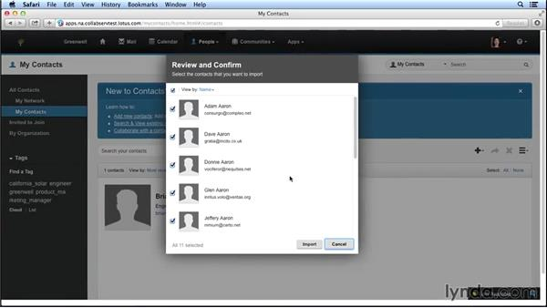 Importing contacts from Lotus Notes: Up and Running with IBM Connections