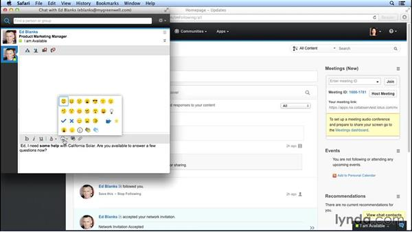 Chatting with your contacts: Up and Running with IBM Connections